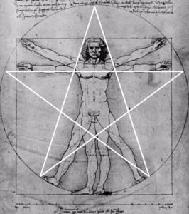 Pentagram around the Human Body