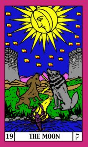 The Moon Card Encompassing the 5 Kingdoms